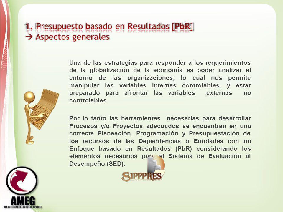 1. Presupuesto basado en Resultados [PbR]  Aspectos generales